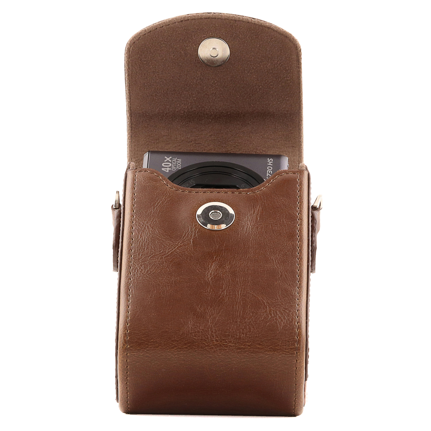 MegaGear Nikon Coolpix A900 Leather Camera Case With Strap